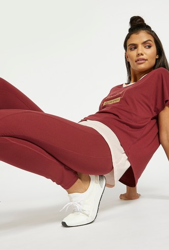 Solid Slim Fit Leggings with Elasticised Waistband