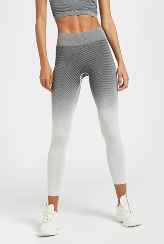 Ombre Shaded Full Length Leggings with Elasticated Waistband