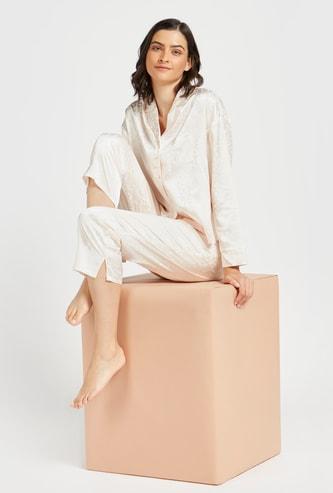 All-Over Printed Sleepshirt and 3/4 Pyjama Set