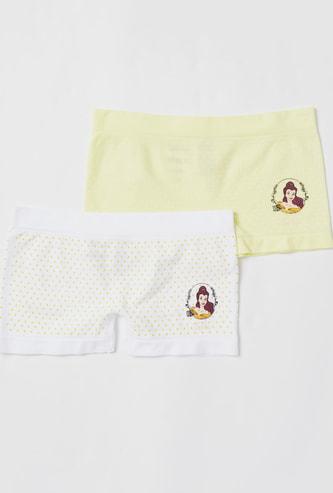 Set of 2 - Princess Belle Print Boyshorts with Elasticated Waistband