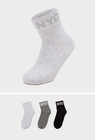 جوارب بطول ربلة الساق بطبعات - طقم من 3
