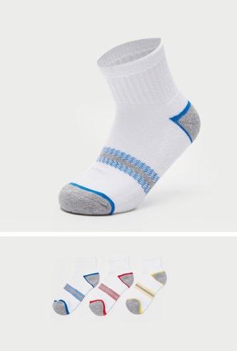 Set of 3 - Assorted Ankle Length Socks with Ribbed Hem