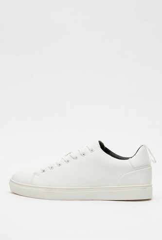 Solid Lace-Up Casual Shoes