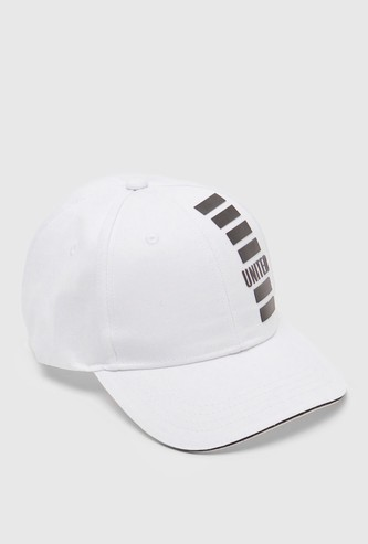 Printed Cap with Embroidered Eyelets