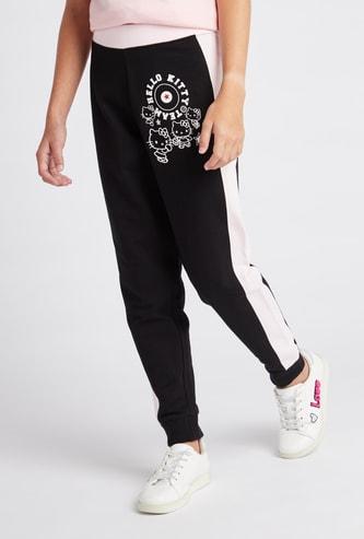 Hello Kitty Print Jog Pants with Elasticised Waistband