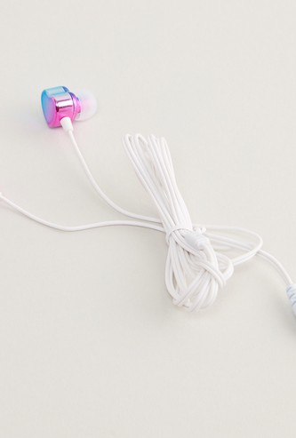 Heart Shaped Earphones with Glitter Detail