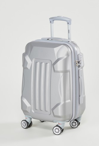 Patterned Hard Case Luggage with Retractable Handle - 35x23x48 cms