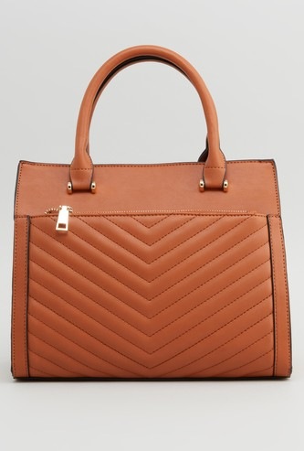 Textured Hand Bag with Detachable Strap