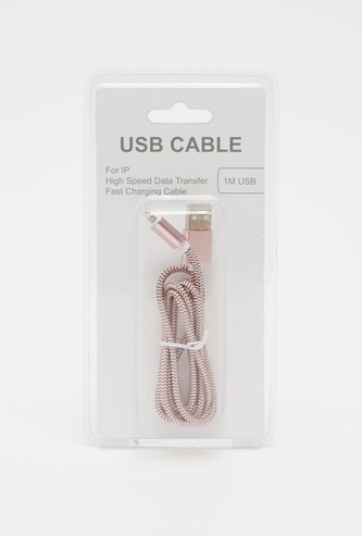 Metallic Textured USB Data Cable