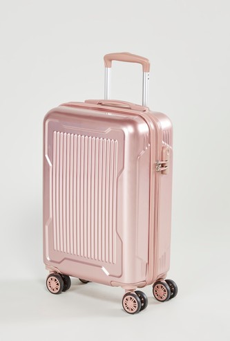 Textured Hard Case Luggage with Swivel Wheels - 37x22x57 cms