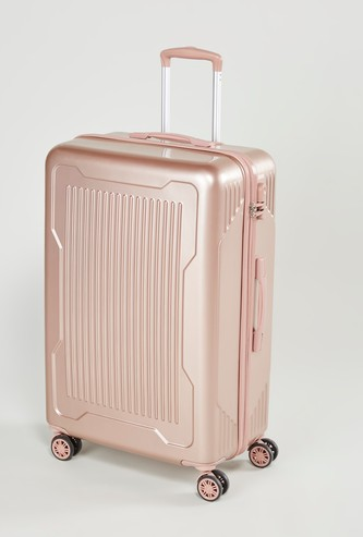 Textured Hard Case Luggage with Swivel Wheels - 51x30x77 cms