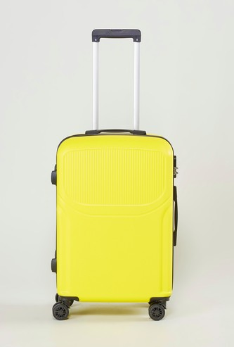 Textured Hard Case Luggage with Retractable Handle - 44x26x66 cms