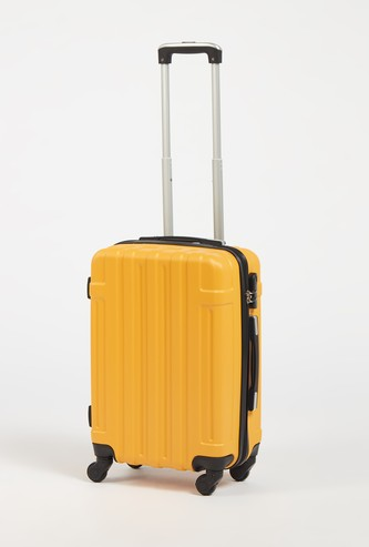 Textured Hard Case Suitcase with Wheels and Retractable Handle