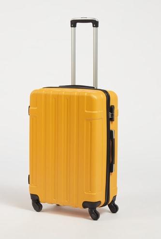 شنطة سفر صلبة بارزة الملمس بمقبض قابل للسحب