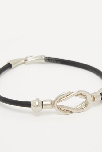 Textured Bracelet with Hinged Hoop Closure