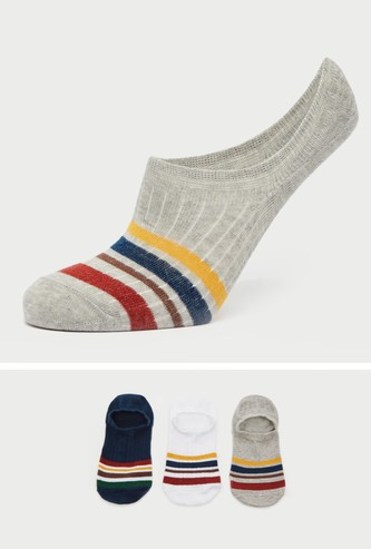 Pack of 3 - Textured Footies with Stripe Detail
