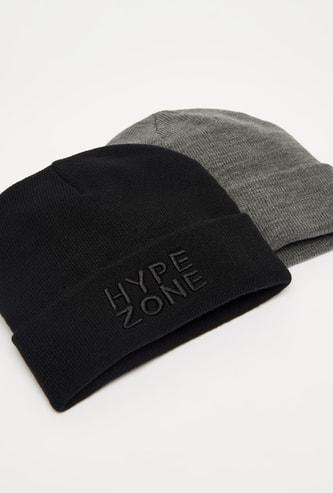 قبعة بيني بحواف مثنية - طقم من قطعتين