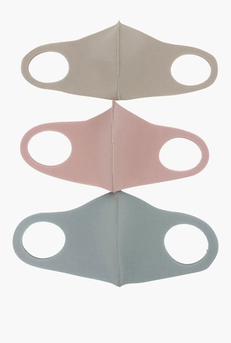Set of 3 - Solid Anti-Dust Face Mask