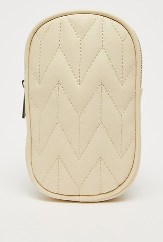 Crossbody Bag with Stitch Design and Sling Strap