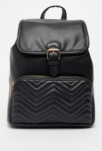 Quilted Backpack with Adjustable Shoulder Straps