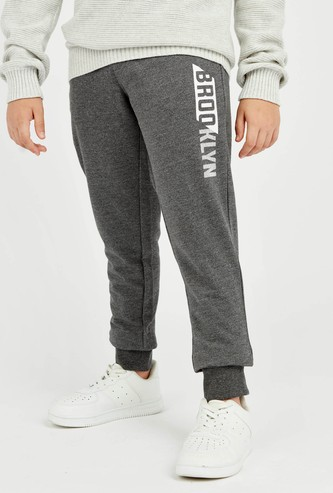 Printed Anti-Pilling Jog Pants with Elasticised Waistband