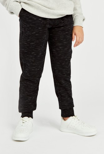 Textured Jog Pants with Pocket Detail and Elasticised Waistband