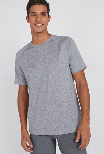Textured T-shirt with Raglan Sleeves