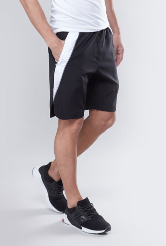 Panelled Shorts with Pocket Detail and Elasticised Waistband