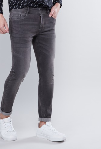 Skinny Jeans with 5-Pockets and Whiskers