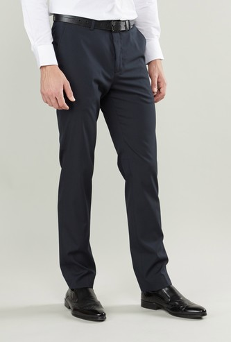 Slim Fit Polka Dot Print Trousers