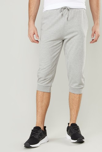 Plain 3/4 Jog Pants with Pocket Detail and Elasticised Waistband
