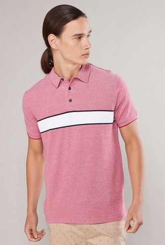 Pique Polo T-shirt with Short Sleeves