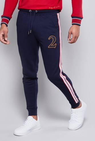 Slim Fit Textured Mid-Rise Joggers with Drawstring Waistband