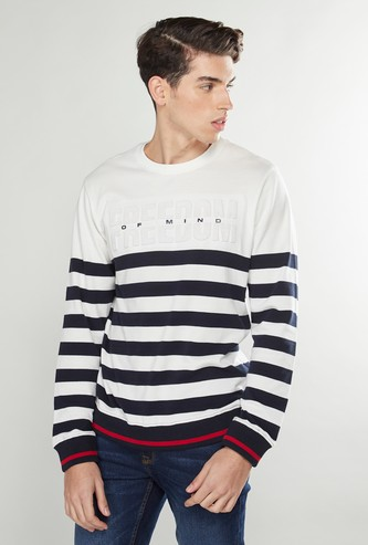 Striped Sweatshirt with Long Sleeves