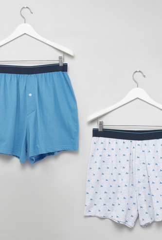 Set of 2 - Assorted Boxer Trunks with Elasticised Waistband