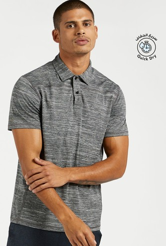 Solid Performance Polo T-shirt with Short Sleeves