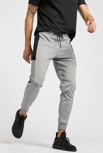 Solid Jog Pants with Pockets and Drawstring Closure