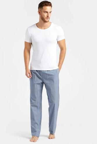 Striped Pyjamas with Pocket Detail and Drawstring Closure