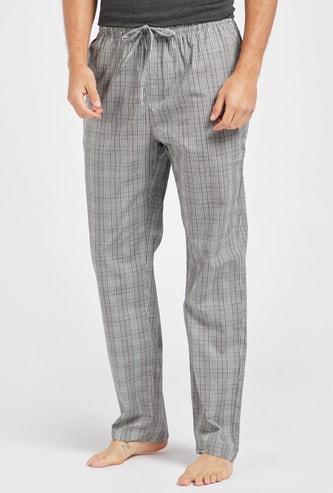 Chequered Pyjama with Elasticised Waistband and Drawstring