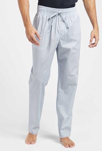 Full Length Printed Pyjamas with Pocket Detail and Drawstring Closure