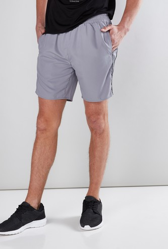 Pocket Detail Shorts with Elasticised Waistband in Regular Fit