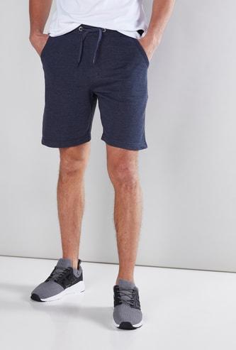 Pocket Detail Shorts in Regular Fit with Drawstring