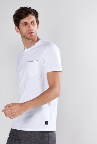 Chest Pocket Detail T-Shirt with Short Sleeves