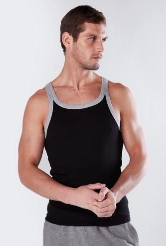 Solid Vest with Scoop Neck