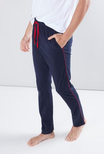Piping Detail Pants with Drawstring