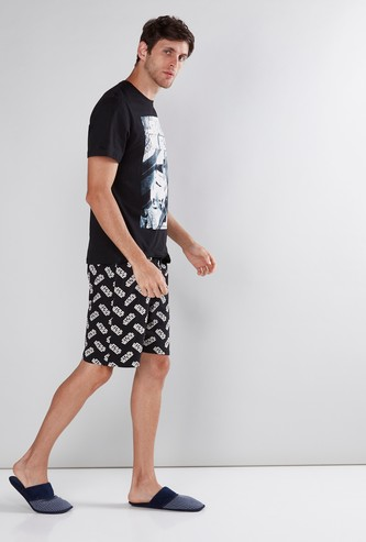 Star Wars Printed T-Shirt with Shorts