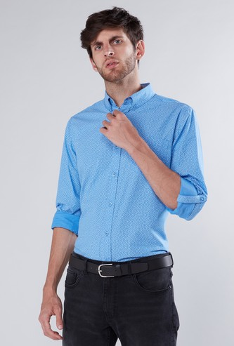 Printed Shirt in Regular Fit with Long Sleeves