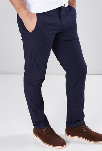 Full Length Chinos in Slim Fit with Pocket Detail