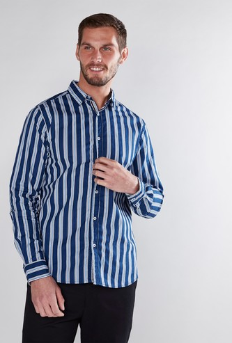 Striped Shirt in Regular Fit with Long Sleeves