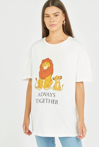 Maternity The Lion King Print T-shirt with Round Neck